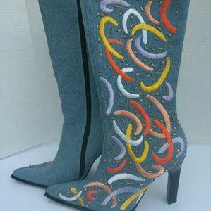 Wild Orchid Fashion Denium Boots
